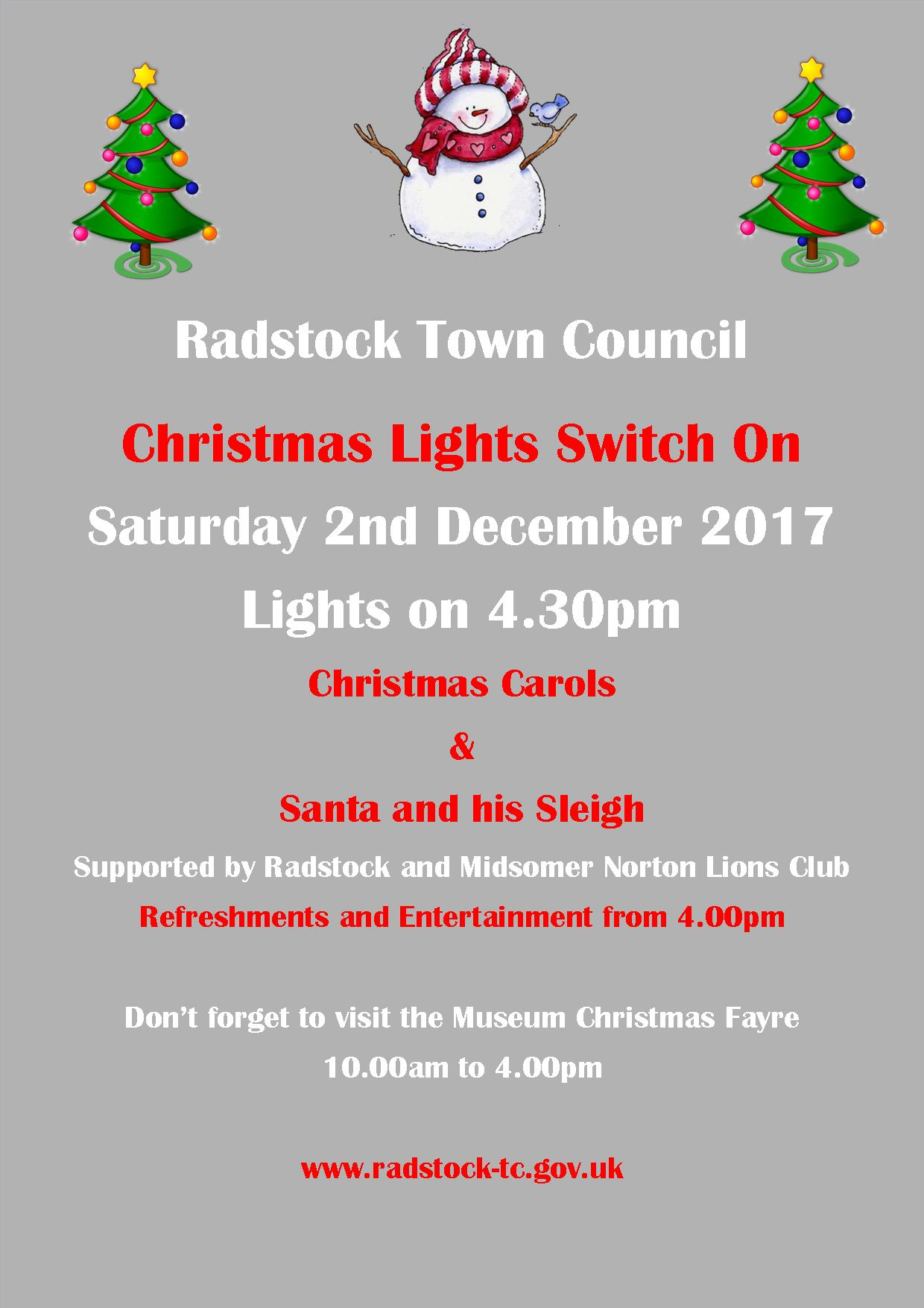 Christmas Lights Switch On Website