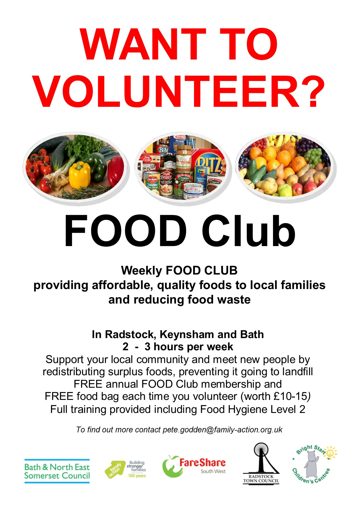 200804 FOOD Club Volunteer recruitment poster