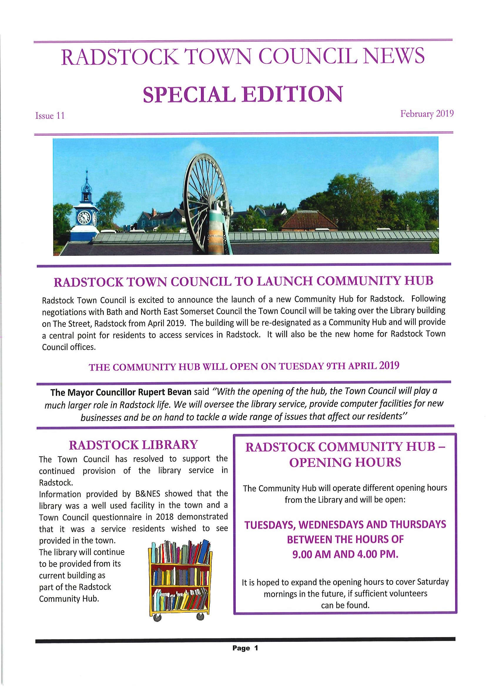 Radstock Town Council to launch Community Hub